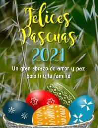 tarjeta volante Felices Pascuas 2021 Flyer (US Letter) template