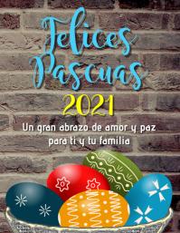 tarjeta volante Felices Pascuas 2021 Folheto (US Letter) template