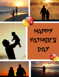 tarjeta volante Feliz Día del Padre Volantino (US Letter) template
