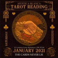 Tarot Reading Event Instagram Video Template 方形(1:1)