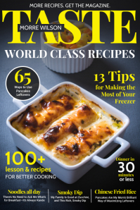 Taste food magazine cover Poster template