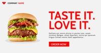 taste it love it Facebook-annonce template