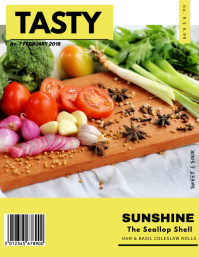 Tasty Food Magazine Cover Template