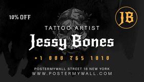Tattoo Business Card Dark