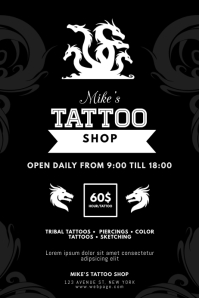 Tattoo Business Flyer Template