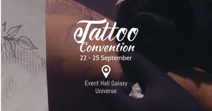 Tattoo Convention Festival Party Tattooed Ads Facebook-evenementomslag template