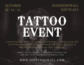 Tattoo Event Landscape Flyer Template