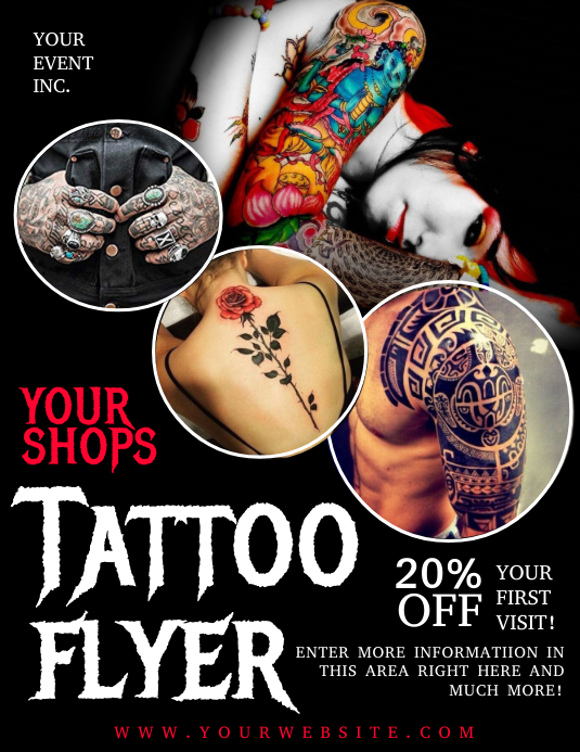 TATTOO FLYER Template | PosterMyWall