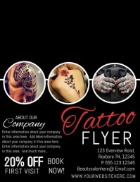 TATTOO FLYER template
