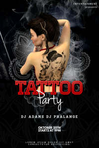 Tattoo Party Flyer Template