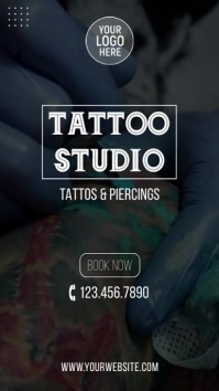 Tattoo Salon Instagram Video Ad template