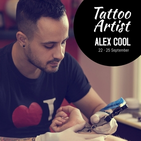 Tattoo Studio Artist visit convention art ad