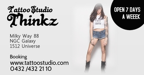 tattoo studio event banner facebook header ad Facebook-gebeurtenisomslag template