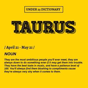 Taurus Dictionary Template