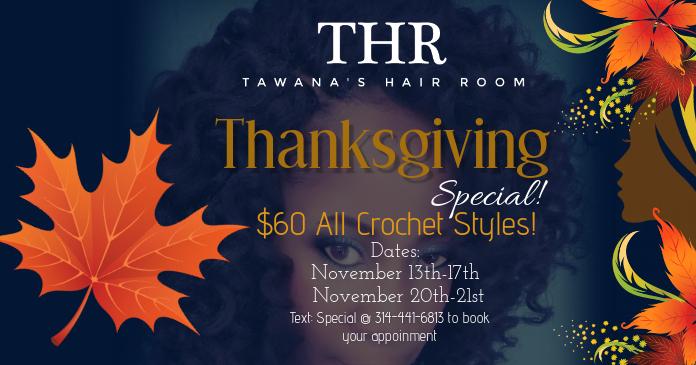 Tawana's Hair Room Facebook Shared Image template