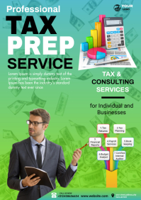 tax & accounting services A4 template