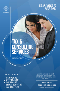 Tax & Consulting Service Flyer Template