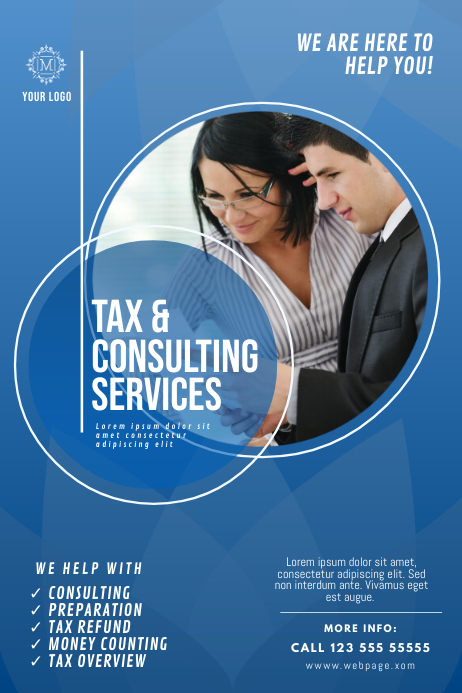 Tax & Consulting Service Flyer Template Affiche