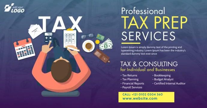 Tax & Consulting Services Ad Imagen Compartida en Facebook template