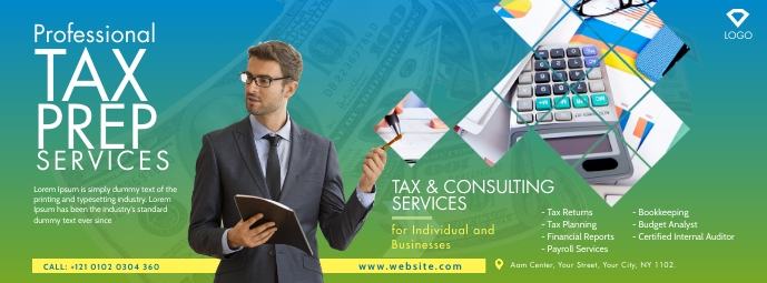 Tax & Consulting Services Facebook Omslag Foto template
