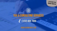 Tax & Consulting Services Ecrã digital (16:9) template