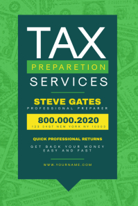 Tax & Consulting Services Poster Template