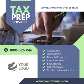 Tax & Consulting Services Instagram Template