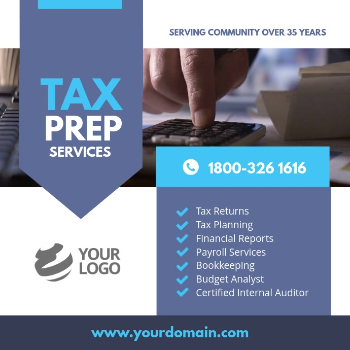 Tax & Consulting Services Instagram Template Instagram-opslag