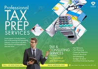 Tax & Consulting Services Postcard template