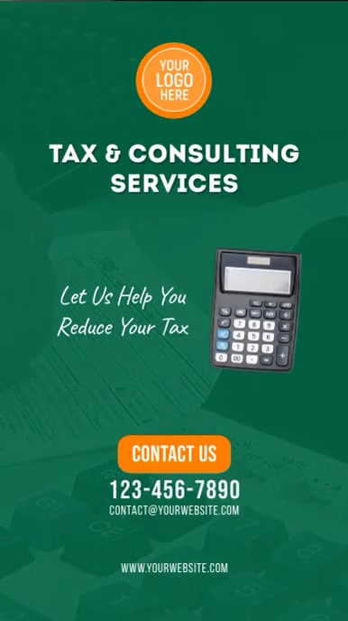 Tax & Consulting Services Video Ad Insta Digital Display (9:16) template