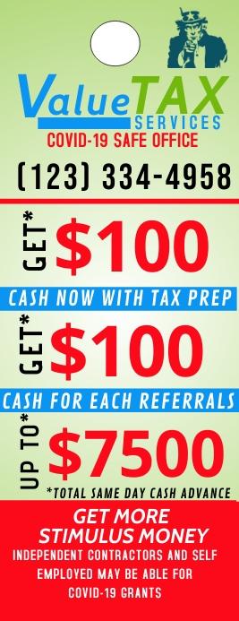 Tax Ad Door Hanger 半页信函 template