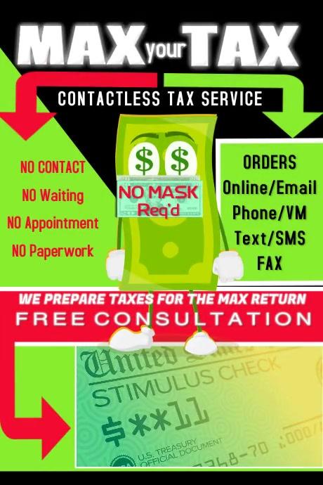 Tax Advertisement Poster Affiche template