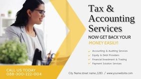 Tax and Consultancy Services Advert Banner Facebook Cover Video (16:9) template