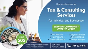 Tax and Consultancy Services Advert Banner