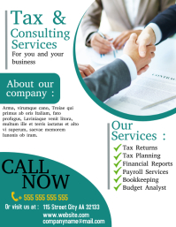 tax and consulting services flyer depliant