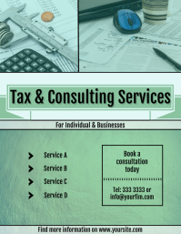 Tax and Consulting Services flyer template