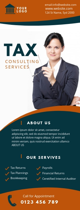 tax consulting service flyer Halfbladsy Brief template