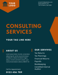 tax consulting service flyer