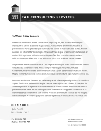 tax consulting service letterhead