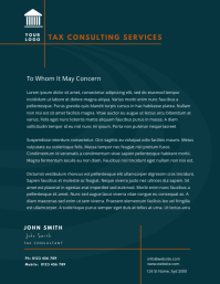 tax consulting service letterhead