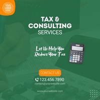 Tax Consulting Services Video Ad Square (1:1) template