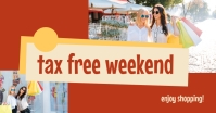 Tax Free Weekend Template delt Facebook-billede