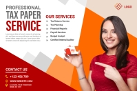 Tax Paper Services Ad Banner 4' × 6' template