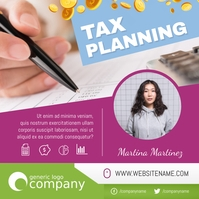 Tax Planning Ad Tax Services Instagram Image
