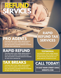 Tax Flyer (US Letter) template