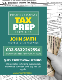 TAX PREP SERVICE Flyer (format US Letter) template