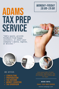 Tax Prep Service Flyer Template Poster