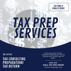 Tax prep service video template Persegi (1:1)