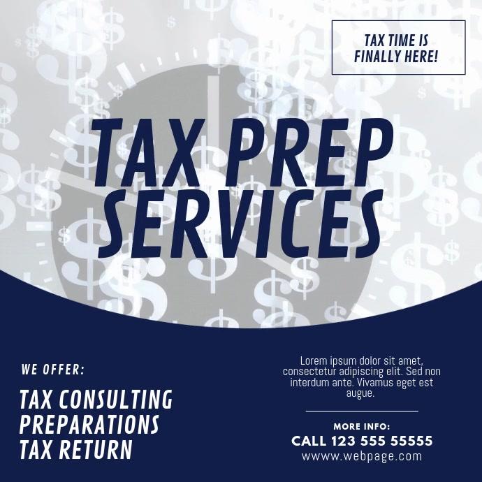 Tax prep service video template Kwadrat (1:1)