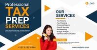 Tax Prep Services Ad Gambar Bersama Facebook template